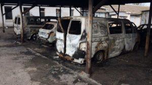 В Запорожской области бандиты подожгли парковку: открыто уголовное производство, – ФОТО