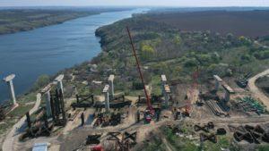 В Запорожье движение по новому мосту между Бабуркой и Хортицей планируют запустить уже до конца года