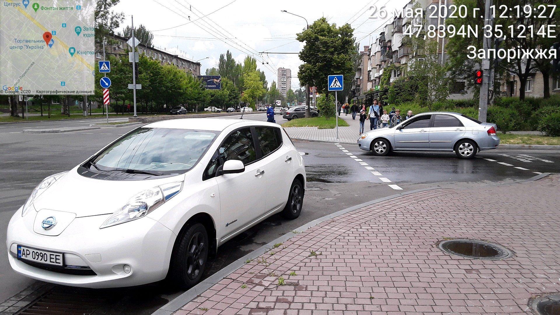 Запорожские водители ошибочно считают, что в карантинный период штрафовать за неправильную парковку - нельзя