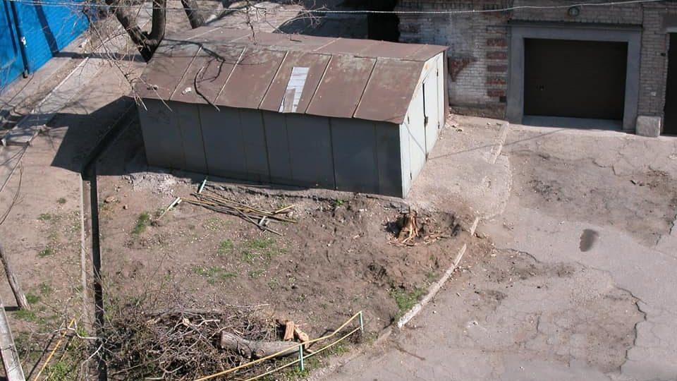 В Запорожье на месте незаконного гаража