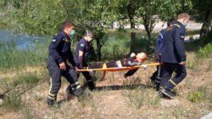 Мешканець Енергодару впав в пустий басейн: чоловікові знадобилась допомога рятувальників, — ФОТО