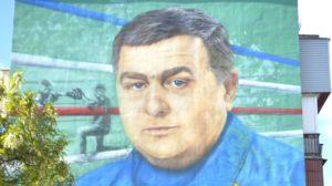 В Энергодаре известному боксеру посвятили мурал