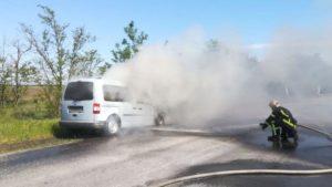 В Мелитопольском районе на трассе горело авто, — ФОТО