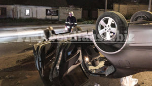 У Запорізькій області п'яний водій перекинувся на Мерседесі, – ФОТО, ВІДЕО