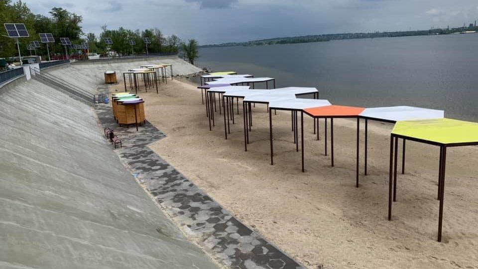 У Запоріжжі майже завершили реконструкцію Правобережного пляжу: що вже зробили, – ФОТО
