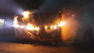 В Запорожье ночью сгорел торговый киоск, – ФОТО