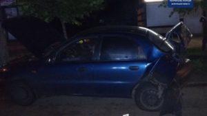 В Запорожье пьяный водитель иномарки протаранил другое авто и скрылся с места ДТП, – ФОТО