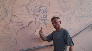 Запорожский уличный художник продолжил расписывать стены в подземном переходе на Фестивальной, – ФОТО
