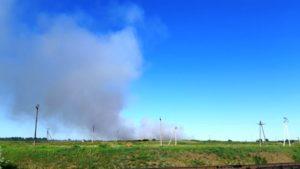 На околицях Пологів більше доби палало сміттєзвалище