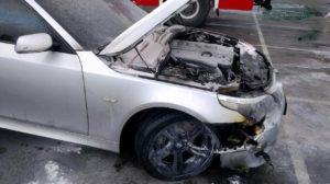 В Шевченківському районі за добу палало дві машини, — ФОТО