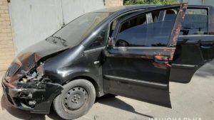 В Мелітополі крадії, тікаючи від поліції, потрапили в ДТП