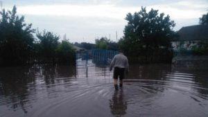 В Запорожской области непогода затопила дома людей, - ФОТО