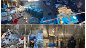 У Запорізькій області в нелегальному цеху виробляли алкогольний сурогат, – ФОТО