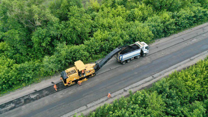 В Запорожской области за 190 миллионов ремонтируют разбитую трассу на Никополь, – ФОТОРЕПОРТАЖ, ВИДЕО