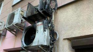 В центральній частині Запоріжжя загорівся кондиціонер, — ФОТО