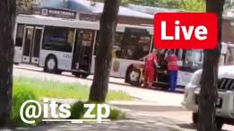 В Запорожье водителю автобуса стало плохо за рулем, — ВИДЕО