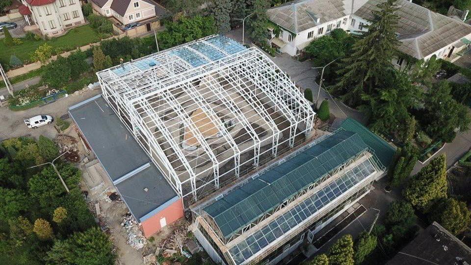 У Запоріжжі в ботанічному саду будують нову величезну теплицю, – ФОТОРЕПОРТАЖ