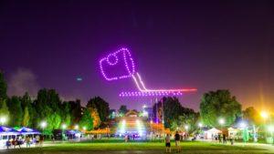 Жителям Запорожья ко Дню металлурга и горняка показали уникальное световое шоу дронов, – ВИДЕО, ФОТО