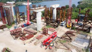 В Запорожье продолжается строительство мостов через Днепр: что сейчас делают турецкие подрядчики, – ФОТОРЕПОРТАЖ