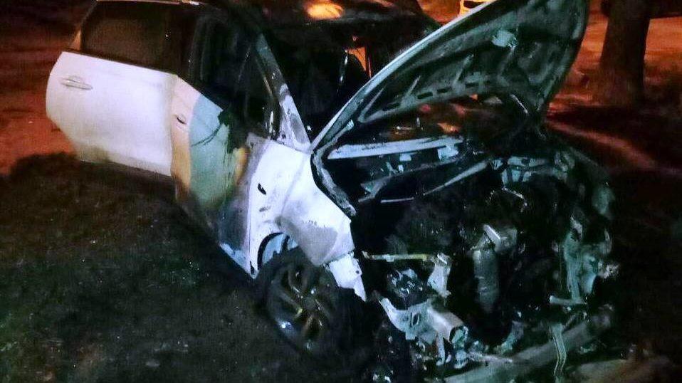 В Запорожье вечером сгорел автомобиль, – ФОТО
