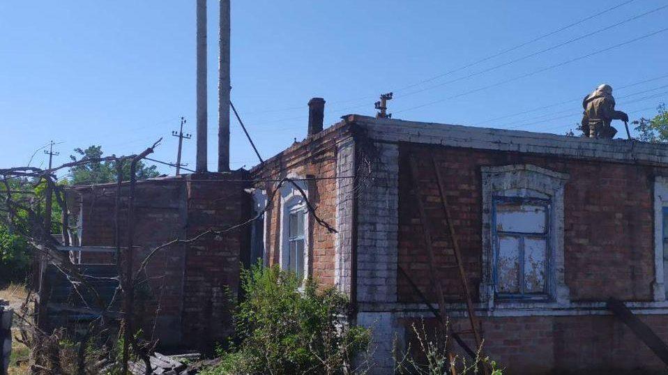 У Запорізькій області сталася пожежа в приватному будинку, – ФОТО