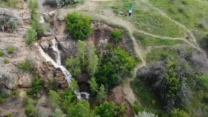 Староста села в Запорожской области объяснил, почему знаменитый водопад пересох, — ВИДЕО