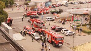 У Запоріжжі пожежу в «Інтуристі» приїхали гасити 60 рятувальників і 15 пожежних машин, – ФОТО