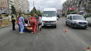 В Запорожье на Южном маршрутка сбила женщину, – ФОТО