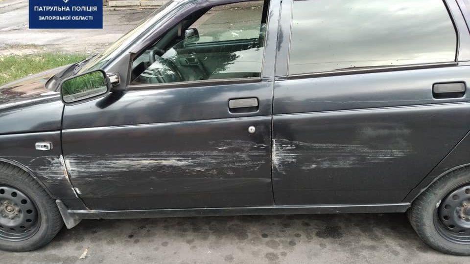 У Запоріжжі п'яний водій потрапив в ДТП і втік з місця аварії, – ФОТО