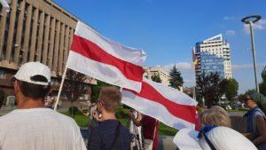 У центрі Запоріжжя провели акцію на підтримку жителів Білорусі, – ФОТОРЕПОРТАЖ