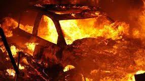 В Запоріжжі вчергове палало авто