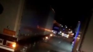 На запорожской трассе расстреляли микроавтобус