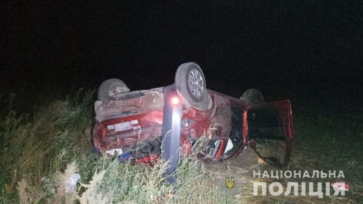В Запорожской области легковушка вылетела в кювет: погибла пассажирка, – ФОТО