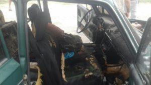 В селе в Запорожской области горело авто: травмированы двое мужчин и ребенок