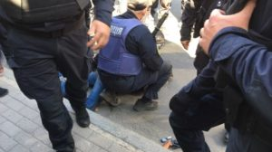 Противник ЛГБТ прайда в Запорожье пришёл с оружием, — ФОТО