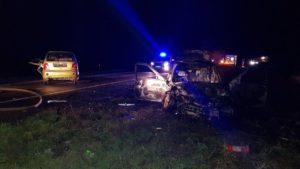 На трассе «Запорожье-Мариуполь» произошло ДТП: один из автомобилей загорелся, — ФОТО