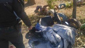 На Запоріжжі поліцейські загасили мопед, який раптово загорівся під час їзди