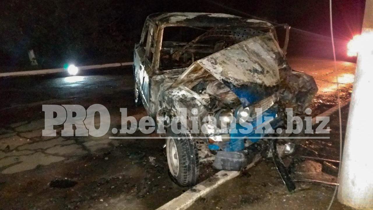 В Запорожской области в жутком ДТП водитель заживо сгорел в автомобиле, – ФОТО