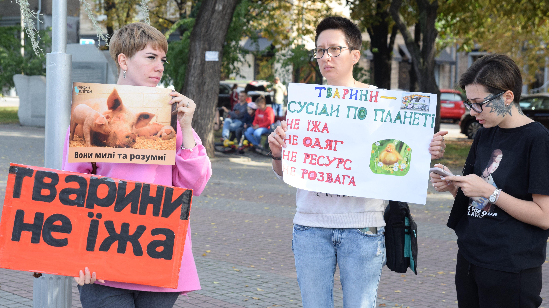 Запорожцы в центре города присоединились ко Всеукраинской акции в защиту животных, – ФОТОРЕПОРТАЖ
