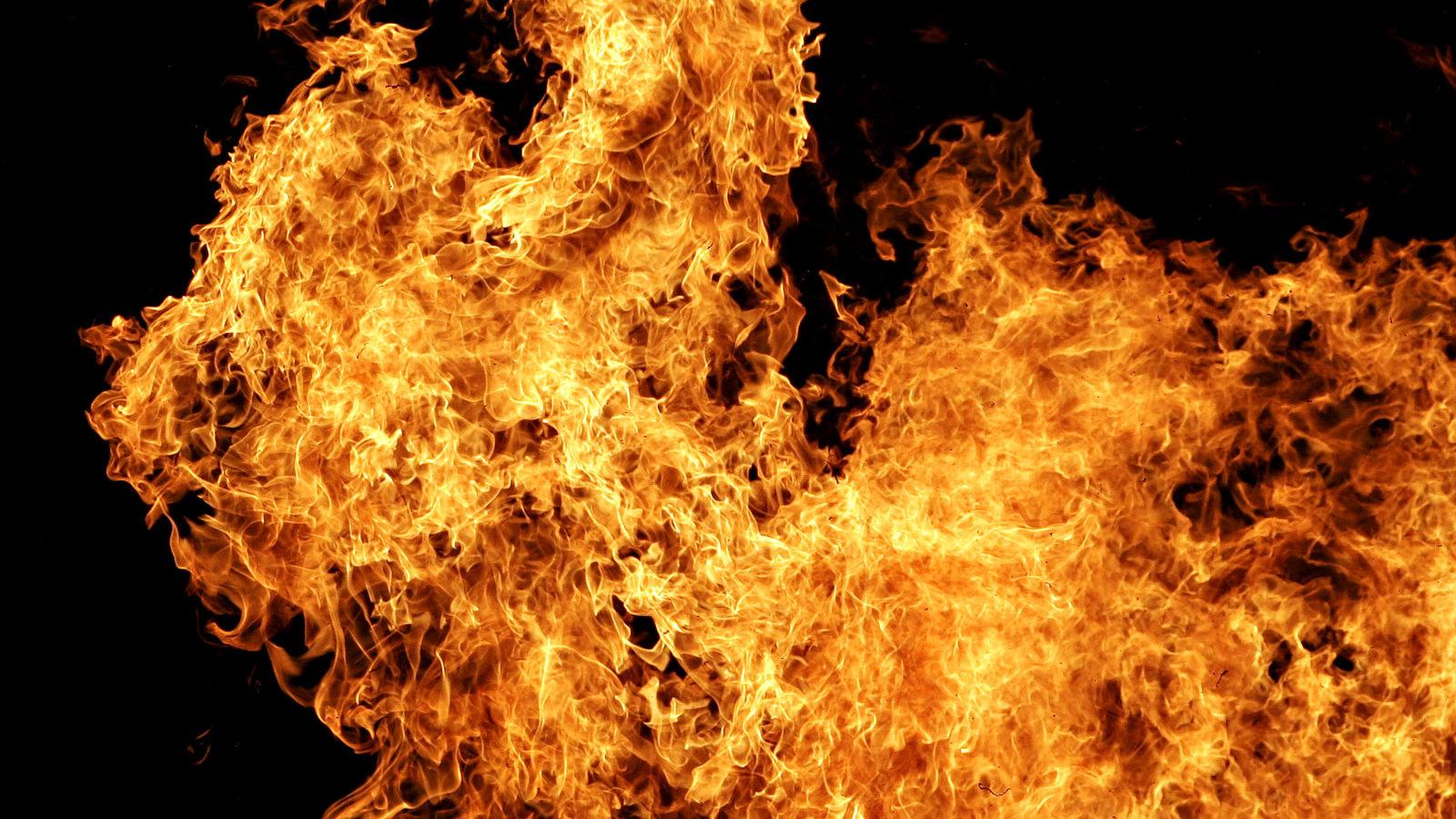 В Запорожской области во время пожара спасли 55-летнего мужчину