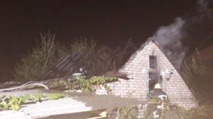 В Запорожье сгорел частный дом