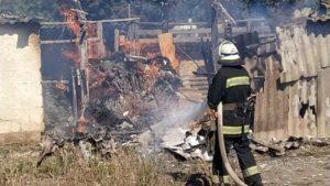 Через сіно в Запорізькій області вщент згорів будинок