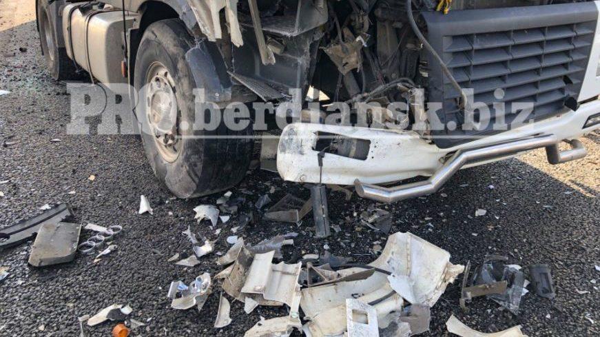 Между Васильевкой и Бердянском Audi врезалась в зерновоз: легковушка практически развалилась, — ФОТО