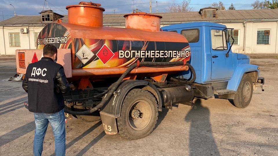 В Запоріжжі виявили незаконну пересувну автозаправку