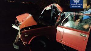 В Запорожье пьяный мужчина, вылетев на обочину, решил скрыть аварию от полиции, — ФОТО