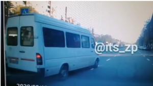В Запорожье полиция оштрафовала маршрутчика, который едва не сбил пенсионерку, – ВИДЕО