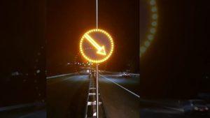 На опасных участках Запорожской области устанавливают дорожные знаки нового формата