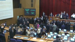 В работе первой сессии Запорожского облсовета объявили технический перерыв до вторника