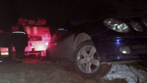 У Великобілозерському районі Mercedes впав у кювет