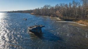 В Запорожском районе затонула баржа: прокуратура начала уголовное производство